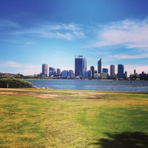 Perth City and Swan River