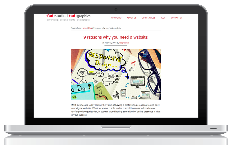 Blog - 9 reasons why you need a website